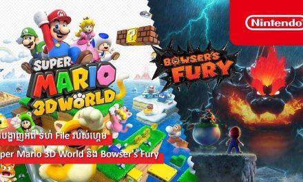 ការបង្ហាញអំពី ទំហំ File របស់ហ្គេម Super Mario 3D World និង Bowser's Fury