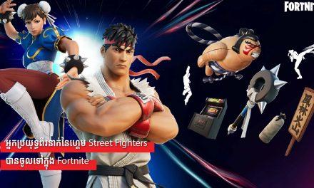 អ្នកប្រយុទ្ធពីរនាក់នៃហ្គេម Street Fighters បានចូលទៅក្នុង Fortnite