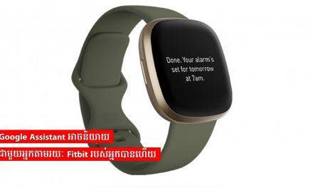 Google Assistant អាចនិយាយជាមួយអ្នកតាមរយៈ Fitbit របស់អ្នកបានហើយ