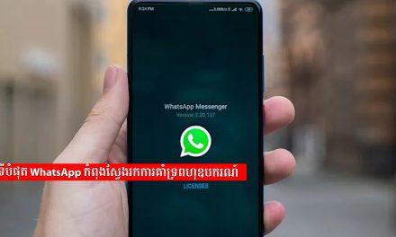 ទីបំផុត WhatsApp កំពុងស្វែងរកការគាំទ្រពហុឧបករណ៍