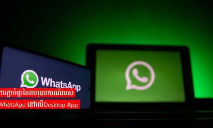 ការភ្ជាប់គ្នានៃពហុឧបករណ៍របស់ WhatsApp នៅលើDesktop App